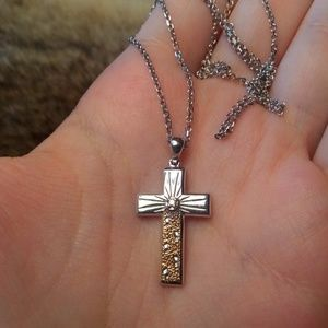 Jewelry - Sterling silver and gold filled cross necklace